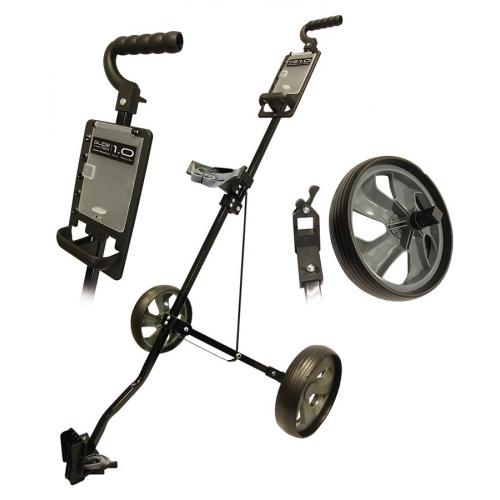 Glide-Tek 1.0 Two Wheel Steel Cart Black/Gun Metal