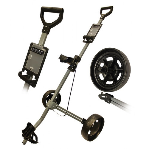 Glide-Tek 2.0 Two Wheel Aluminium Cart Gun Metal/Black