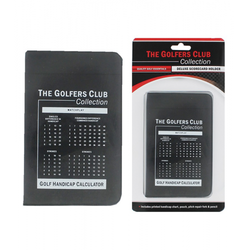 Deluxe Card Holder With Handicap Chart