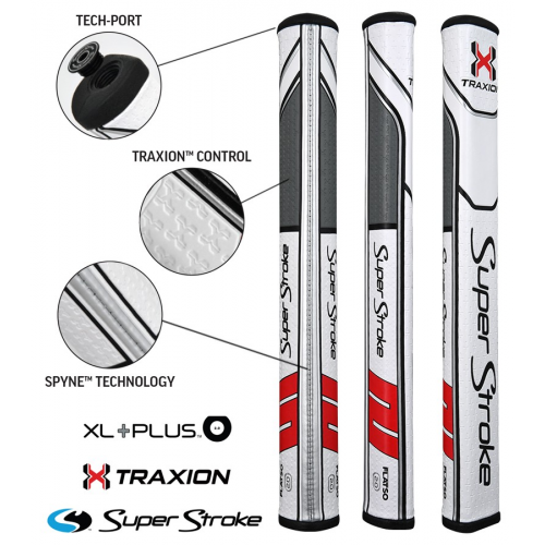 Superstroke Traxion Flatso Xl Plus 2.0 White/Red/Grey