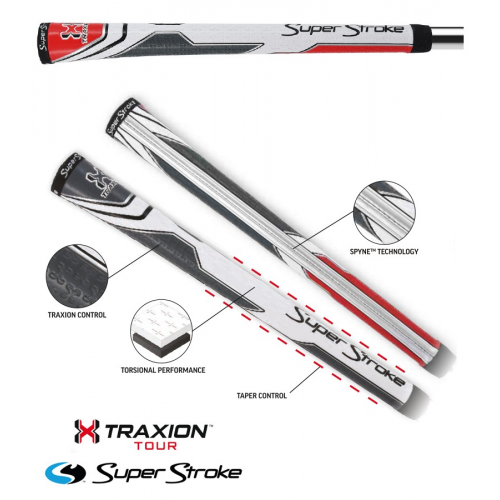 Super Stroke Traxion Tour Mid Size White/Red/Grey