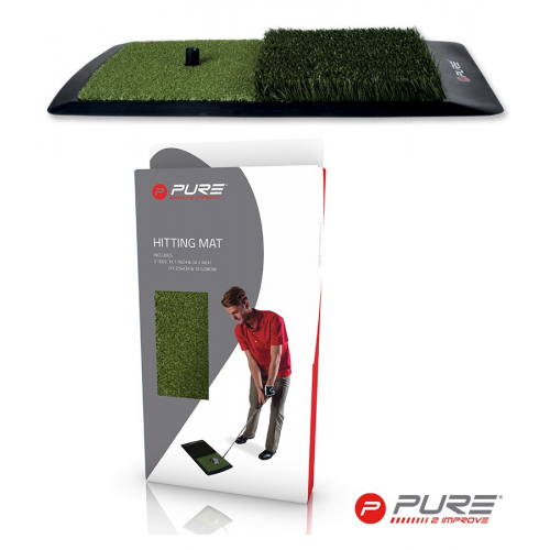 Pure2Improve Hitting Mat Green/Black 60 X 31cm